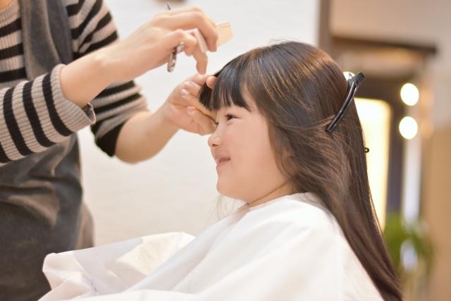 訪問美容サロンnico お子様のヘアカット 準備~ロングヘア(西東京・武蔵野・三鷹 ライフサポートnico)